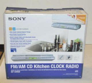 sony under cabinet kitchen icf cdk50 cd clock radio sony under cabinet counter kitchen cd clock radio icf