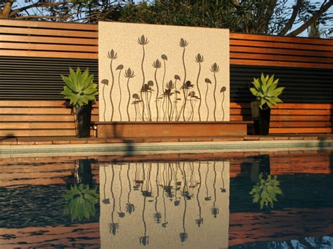 outdoor water wall features outdoor wall water feature