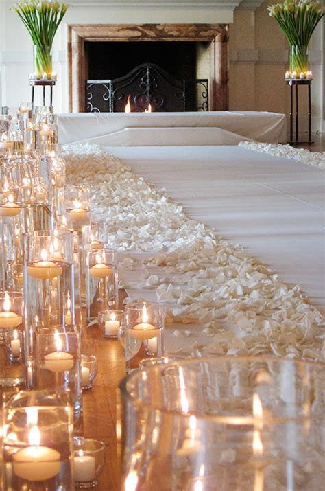 wedding aisle decorations with candles diy aisle runner inspiration the crafty esquire