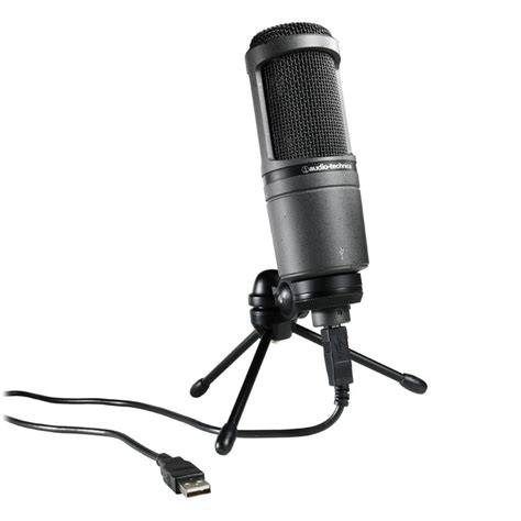 audio technica at2020 cardioid condenser usb microphone