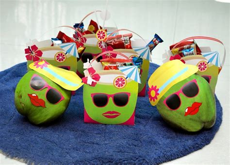 rainbow themed birthday return gifts serve your guests these beautifully decorated coconut
