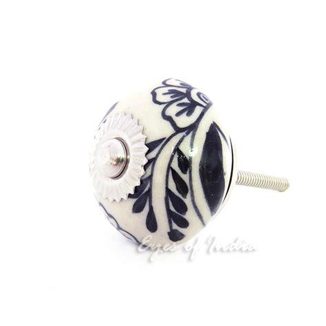 black and white ceramic cabinet knobs black white decorative ceramic cabinet door dresser