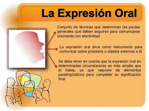 la expresin oral expresion oral y escrita