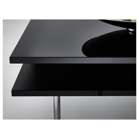 Black Table Tofteryd Coffee Table High Gloss Black 95x95 Cm Ikea