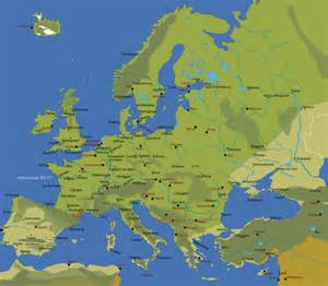 European Cities Map by Map Of European Cities Johomaps