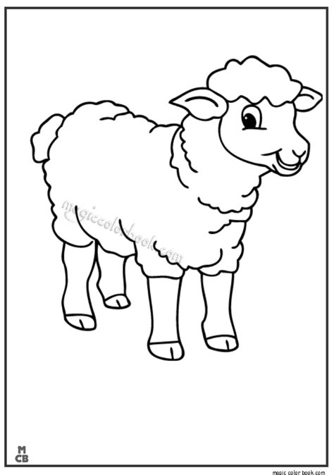 Free Coloring Pages Of Lambs