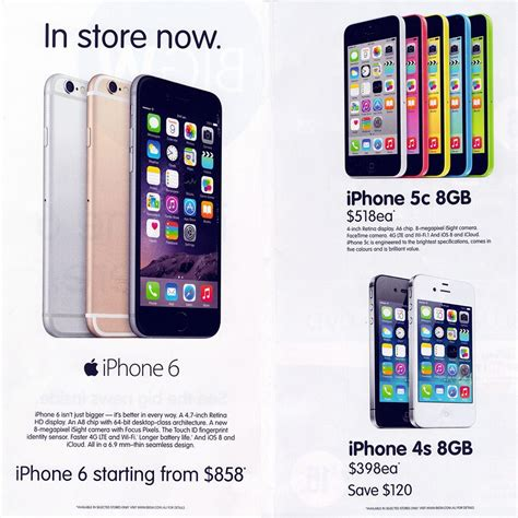 iphone 6 from 858 815 50 with 5 gift cards at big w ozbargain