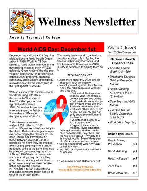 health newsletter templates health and wellness newsletter template best business