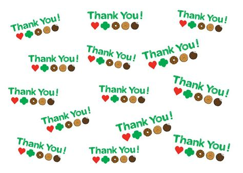 the bourgeois scout printables for cookie sale thank you notes