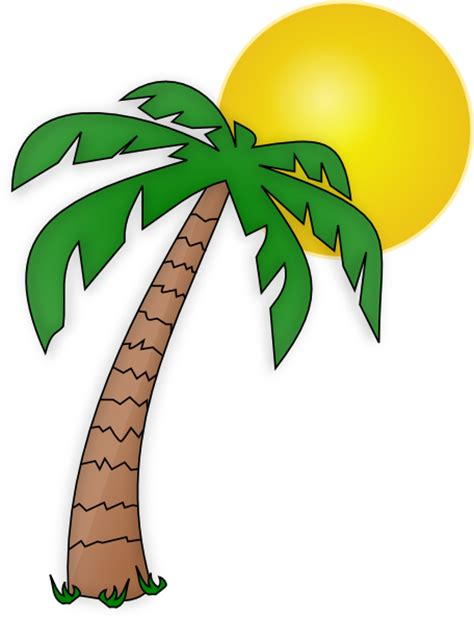 clip free printable palm tree clip printable free clipart images 2