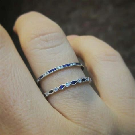 Wedding Bands With Sapphires And Diamonds by 13 Best Images About Band Ideas On Gold