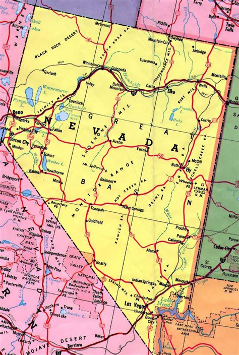 nevada in the map of usa highways map of nevada state nevada state usa maps