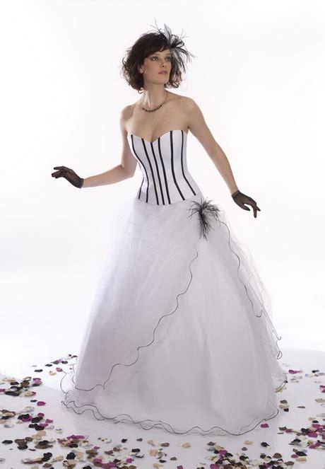 Robe De Mariée Noir Et Blanc Pronuptia - robe de mariage noir et blanc