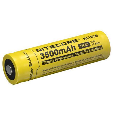 nitecore 18650 baterai li ion 3500mah 3 6v nl1835 black yellow jakartanotebook