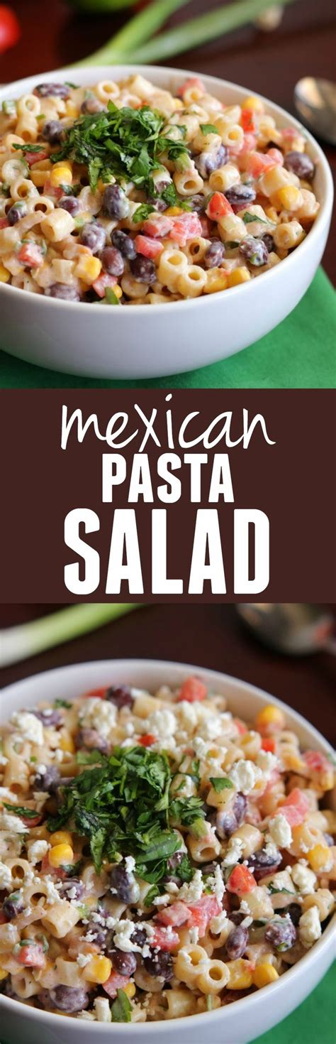 mexican macaroni salad recipe from pillsbury com mexican pasta salad recipe protein black beans and