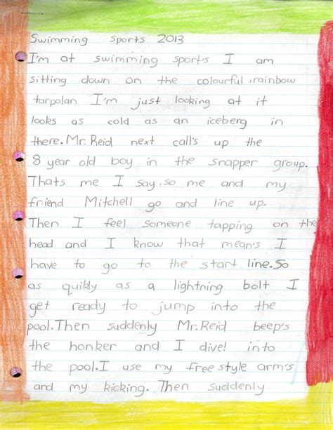 Exle Memoir Essay by Swimming Memoir Writing Exles Writing