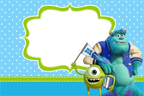 Monster University Free Printable Party Invitations Oh My Fiesta In English Monsters Inc Birthday Invitations Template