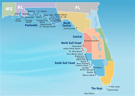 florida gulf coast map map of alabama and florida gulf coast swimnova