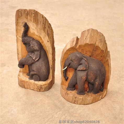 Handmade Wood Carvings - buy wholesale elephant wood carving from china