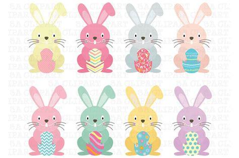 Easter Bunny Clipart Easter Bunny Clipart Illustrations Creative Market