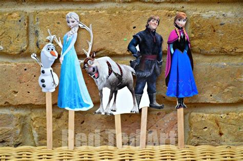 printable frozen characters disney s frozen craft puppets red ted art s blog