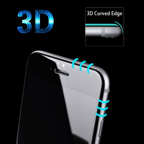 Iphone 6 6s Plus Tempered Glass Curved Edge Protection Screen 0 2 T19 5 מוצר 3d curved edge tempered glass for iphone 6 6s