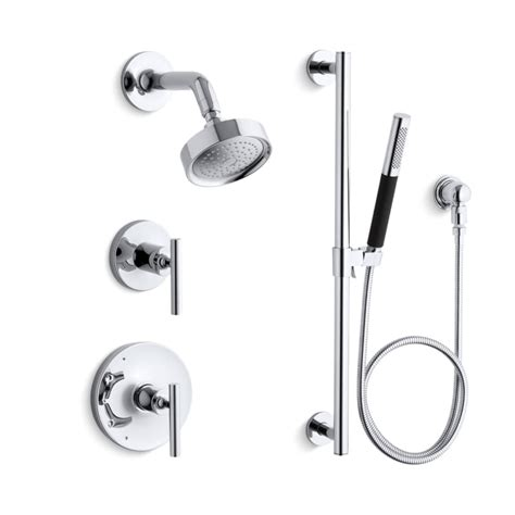 Kholer Kitchen Faucets by Faucet Com K Purist Shwr Bndl Hs Cp In Polished Chrome