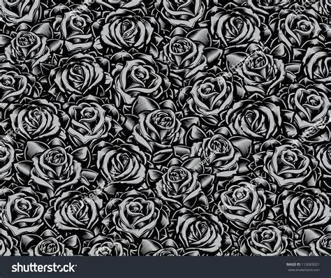 tattoo collage style roses background vector illustration stock