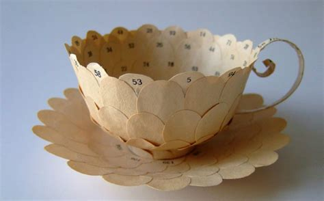 Craft Work With Paper Cups - cecilia levy s dainty tea cups are made from