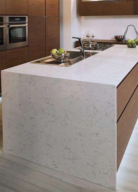 Carrara Marble Kitchen Backsplash Kitchen Room Scene Fairy White Quartz Countertop