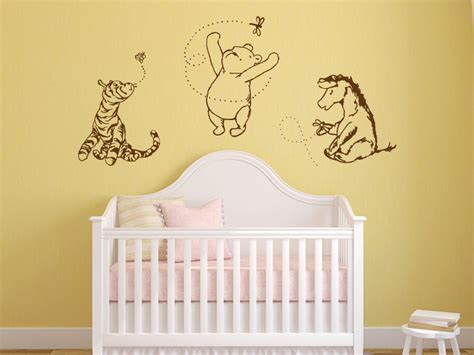 Classic Winnie The Pooh Wall Decals For Nursery Classic Winnie The Pooh Tigger And Eeyore By Grabersgraphics
