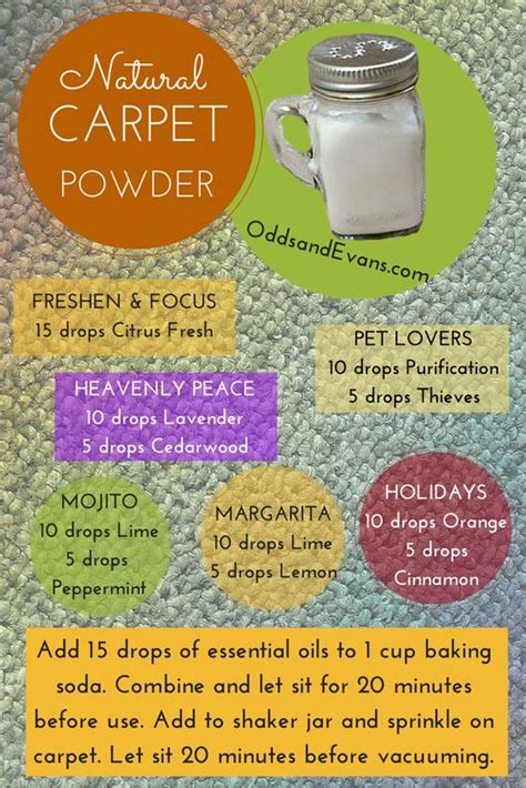 rug cleaner recipe carpets powder and spice containers on