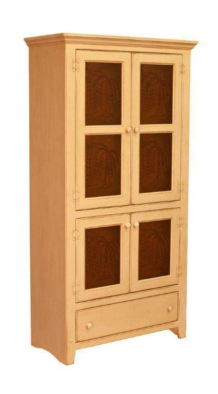 amish georgetown pine pantry pie safe cabinet  tin doors