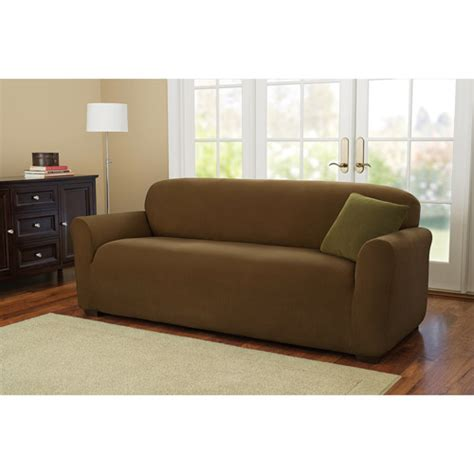 couch cover walmart better homes and gardens one piece stretch fine corduroy