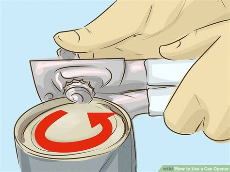 can opener use 3 ways to use a can opener wikihow