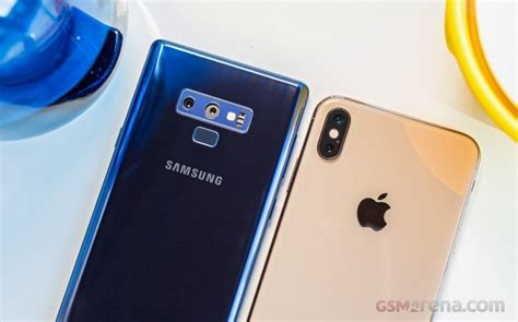 apple iphone xs max vs samsung galaxy note9 gsmarena tests