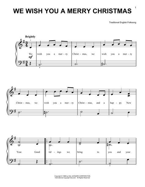 merry christmas  easy piano print sheet