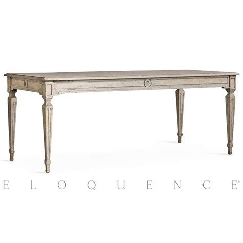 eloquence 168 gustavian dining table in oak driftwood kathy