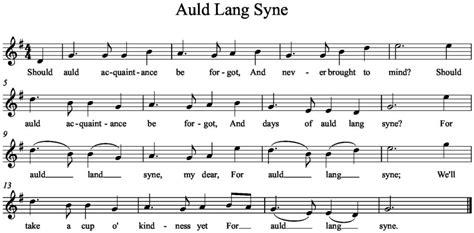valzer delle candele spartito auld lang syne