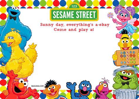 free printable sesame 1st birthday invitations