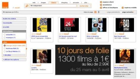 film en ligne films en ligne 1 euro la vod sur orange jusqu au 5 avril