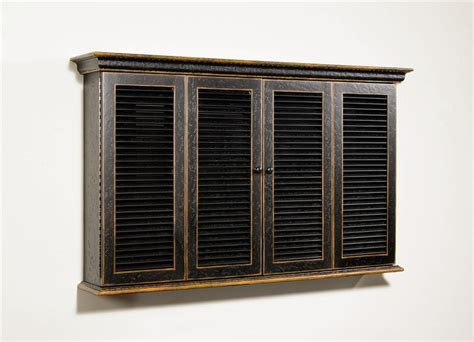 shutter tv wall cabinet shutter style tv wall cabinet in distressed black and