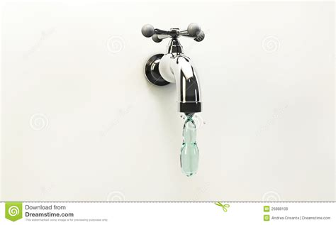 Kitchen Faucet Is Leaking tap water drop royalty free stock images image 26888109
