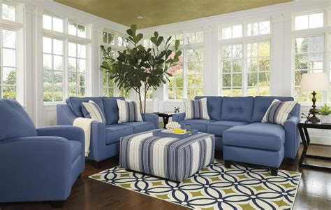 blue living room set aldie nuvella blue living room set 6870318