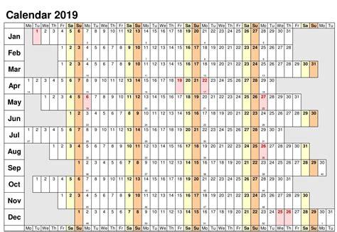 yearly calendar template malaysia  printable