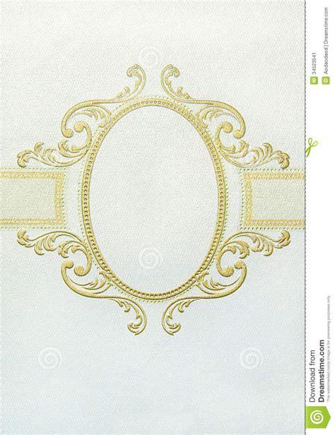 frame design in paper oval floral vintage frame stock image image 34523541