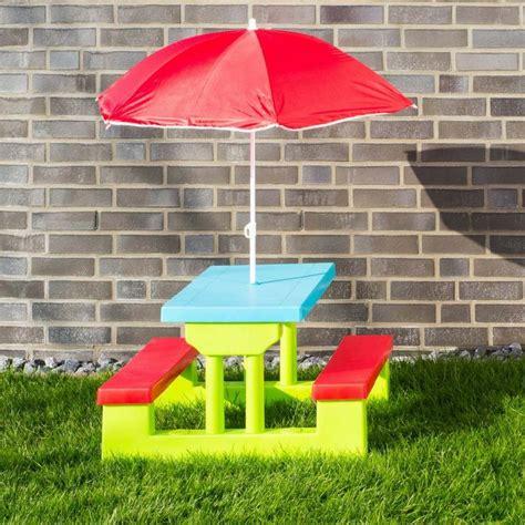 giardino bambini tavolino da giardino per bambini con panche e ombrellone