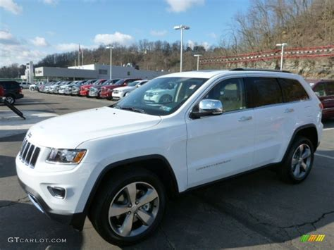 white jeep 2014 2014 bright white jeep grand cherokee limited 4x4