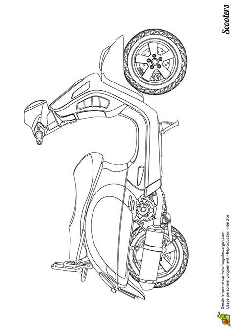 dessin à colorier scooter des neiges