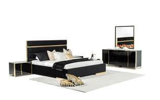 modern black bedroom set nova domus montblanc modern black gold bedroom set